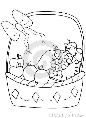 327x450 Fruit Basket Drawing Images. Fruit Basket. Fruit Baskets. How