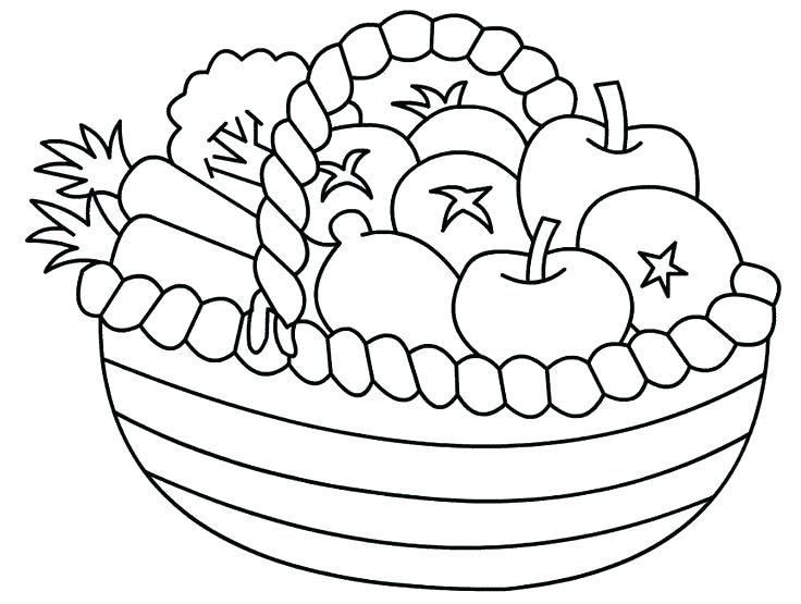 736x555 Inspirational Fruit Basket Coloring Pages Or Fruit Bowl Coloring