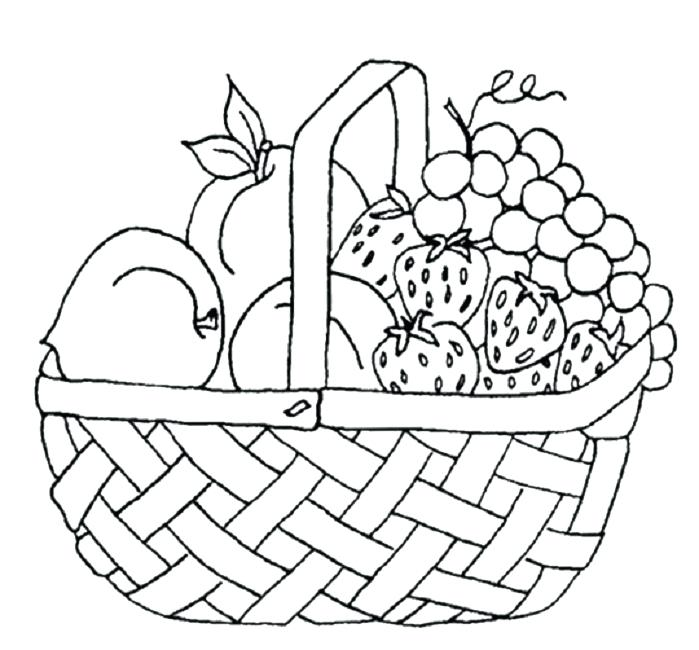 699x650 Fruit Basket Coloring Pages 1table.co