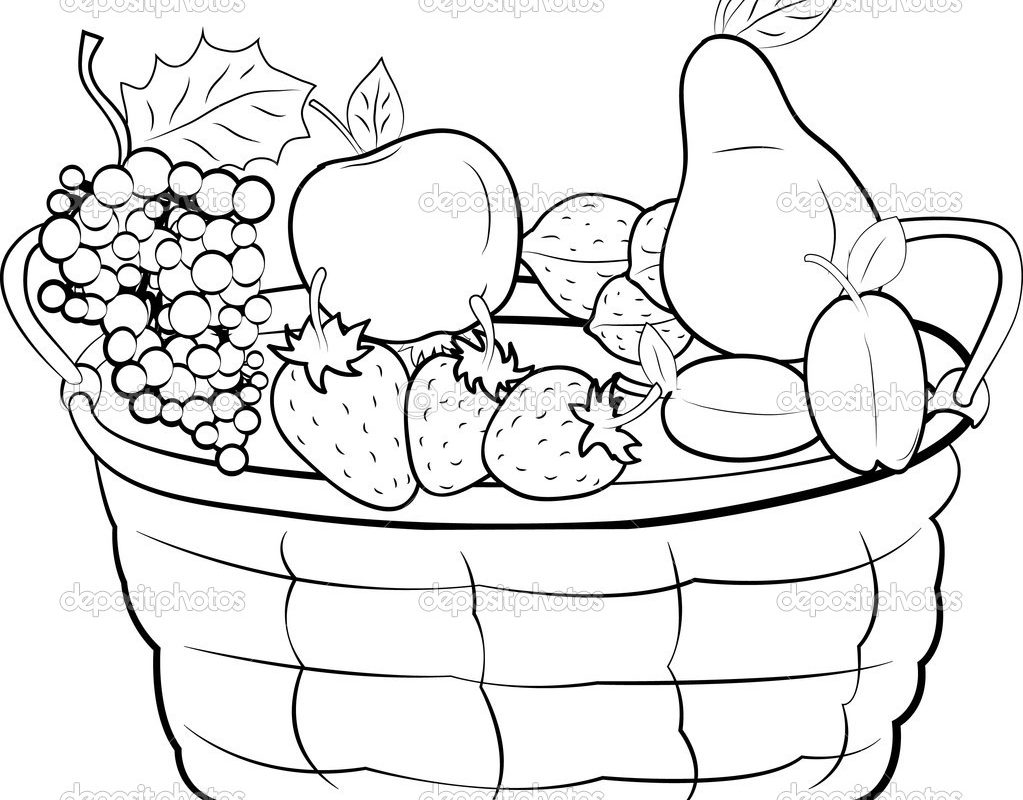 1023x800 Apples In Basket Coloring Page Free Printable Apple Kids Empty