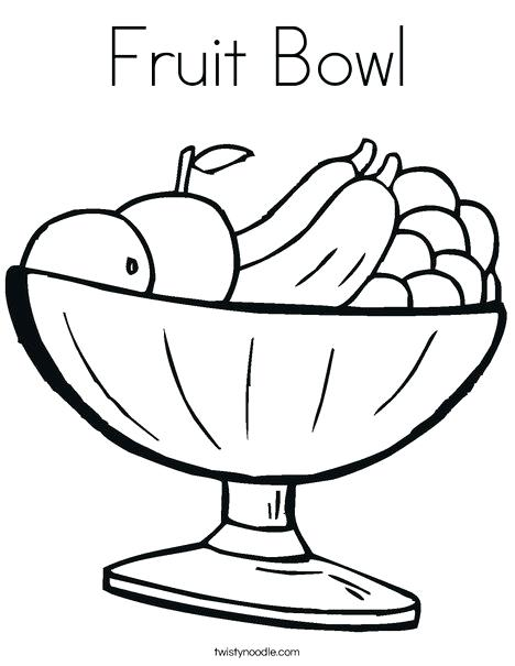 468x605 Coloring Picture Of Fruit Drawn Fruit Fruit Plate Coloring Pages