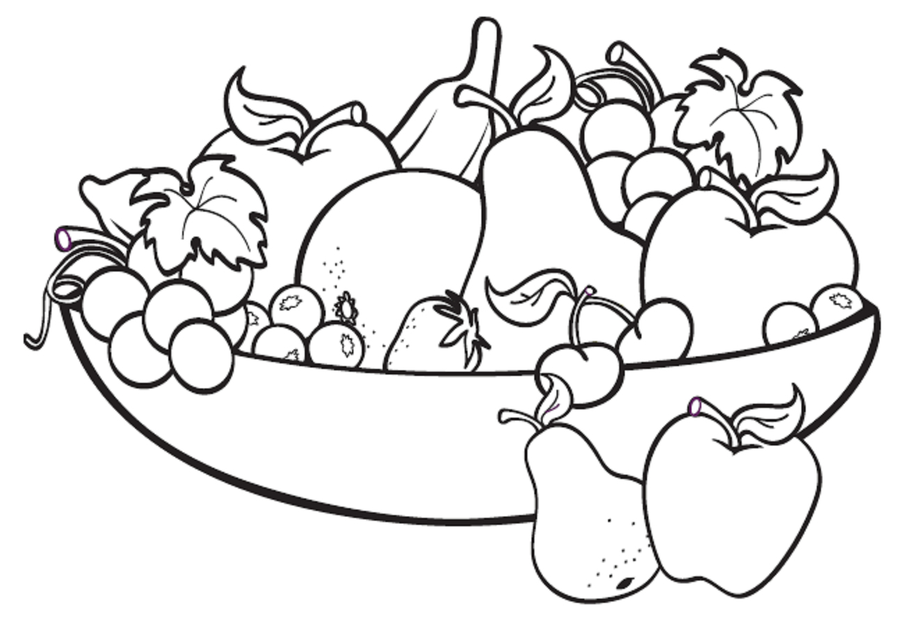 1308x918 Sketches Fruits Baskets A Basket Fruits Drawing A Basket