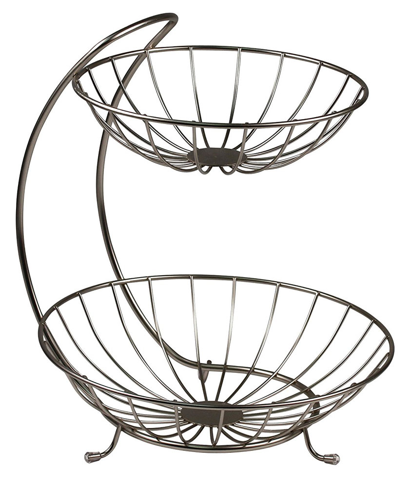 839x1000 Two Tier Curved Fruit Basket In Fruit Baskets