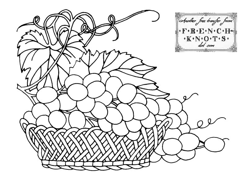 800x606 Free Fruit Basket Embroidery Transfer Patterns