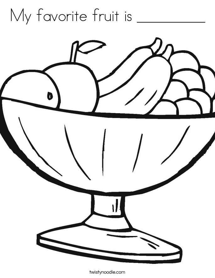 685x886 My Favorite Fruit Is Coloring Page