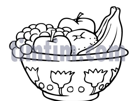 440x330 52 Cartoon Bowl Of Fruit, Bowl Of Fruit Clipart Black And White
