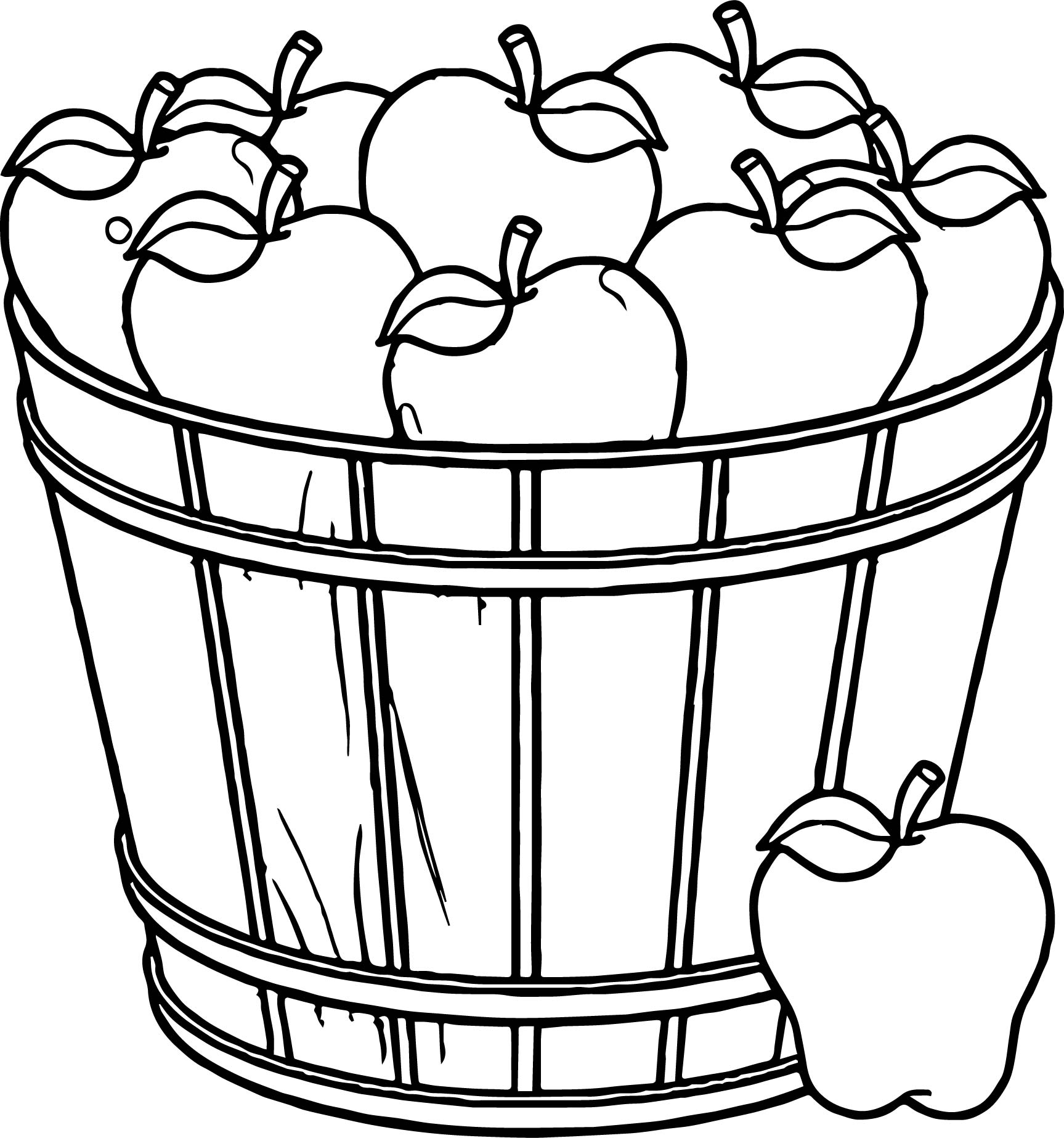 1727x1846 Apple Basket Coloring Page Fall Leaves Coloring Pages