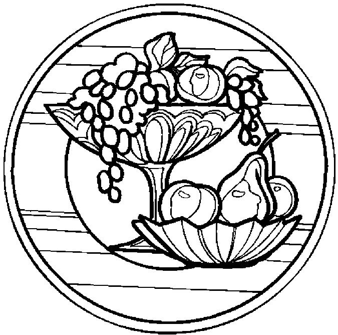675x668 Fruit Bowls Coloring Page