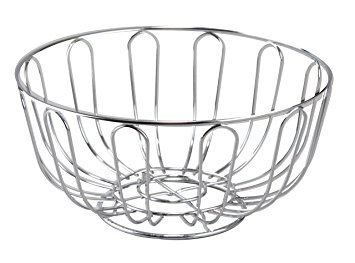 355x263 Cuisinox Round Bread Basketfruit Bowl, Stainless