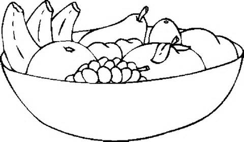 480x279 Bowl Of Fruits Clipart Black And White