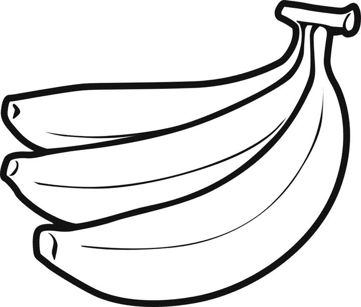fruit drawing - Fruit Coloring Page