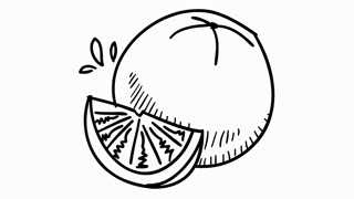 320x180 Fruits Fall Drawing Looped Animation Motion Background