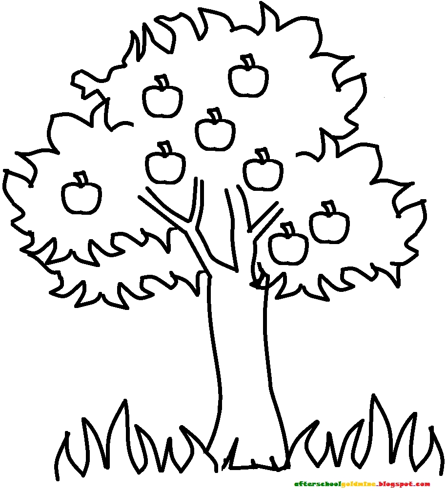 coloring pages fruit trees - photo#18