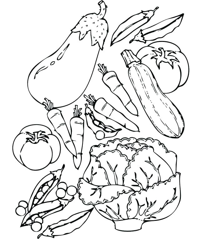 Fruits And Vegetables Drawing