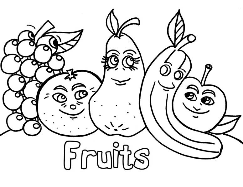 776x600 Fancy Coloring Pages Fruits And Vegetables 99 For Model