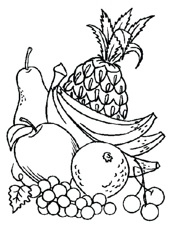 600x792 Fruit And Vegetable Coloring Pages Fruits Vegetables Nine