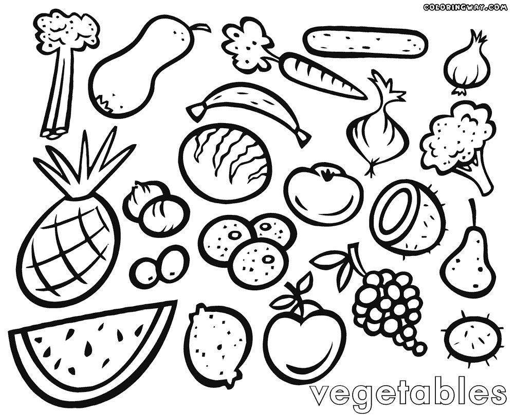 Fruits And Vegetables Drawing at GetDrawings | Free download