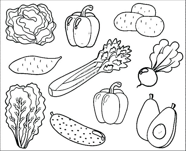 615x499 Vegetables Coloring Pages Fresh Design Fruits And