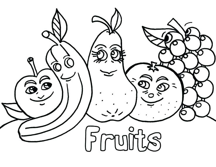 736x569 Fruit Color Pages Fruit Coloring Pages Fruits Coloring Pages