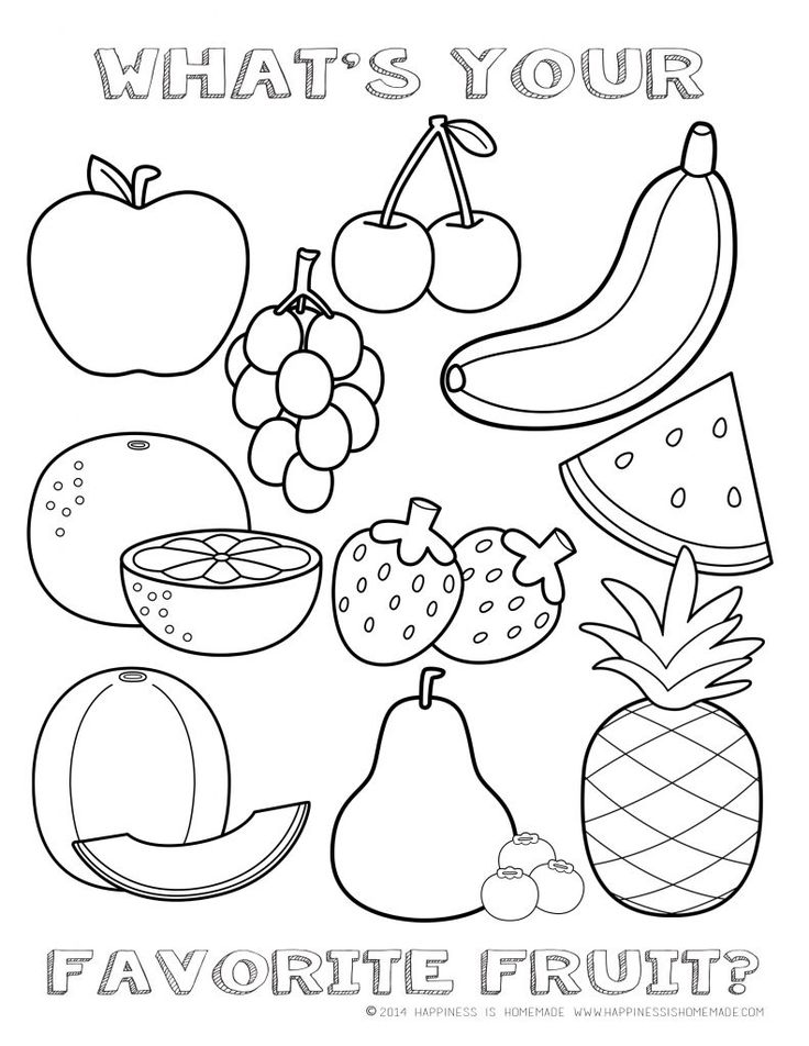 736x952 Fruits Coloring Pages
