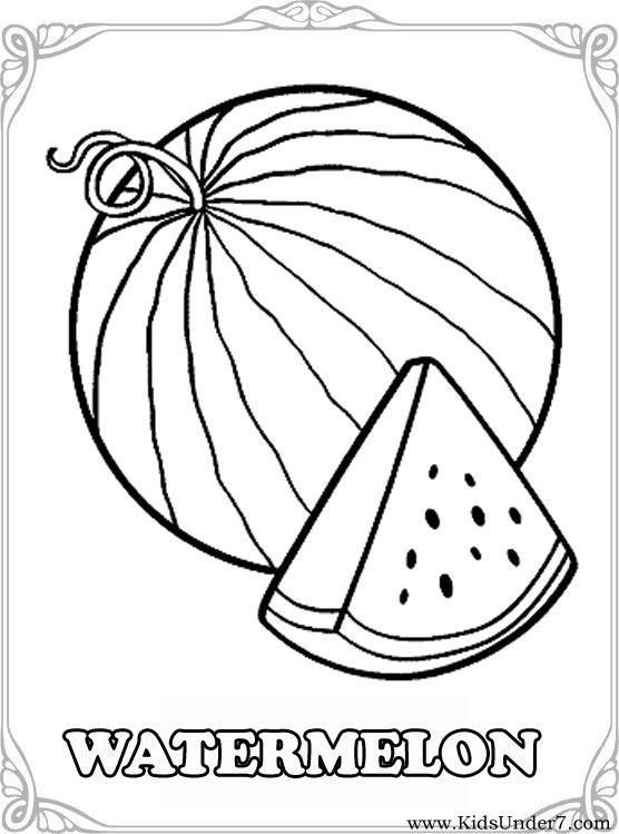 556x749 Kids Under 7 Fruits And Berries Coloring Pages