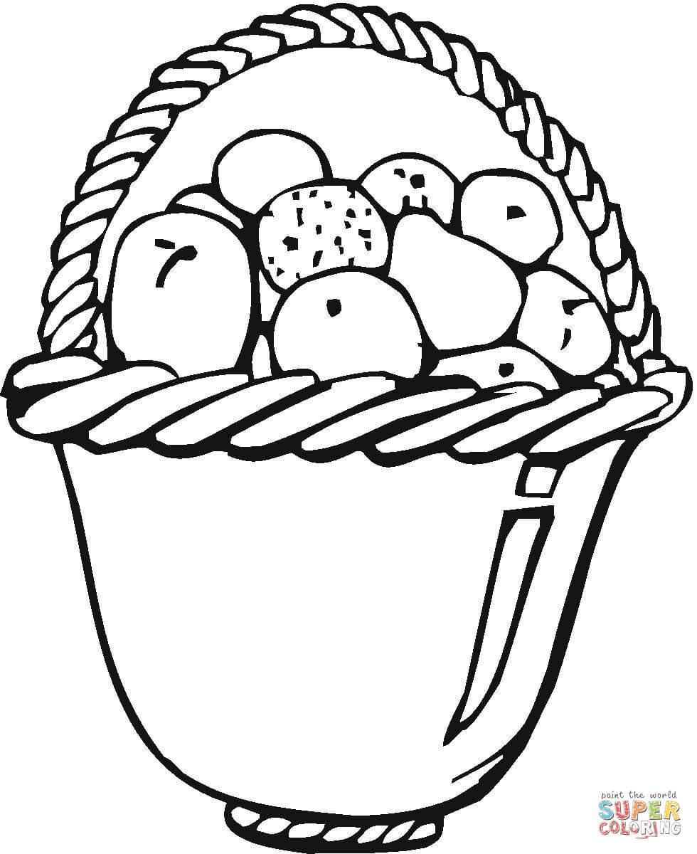 980x1200 A Basket Of Fruits Drawing Coloring Bowl Of Fruits Coloring Page