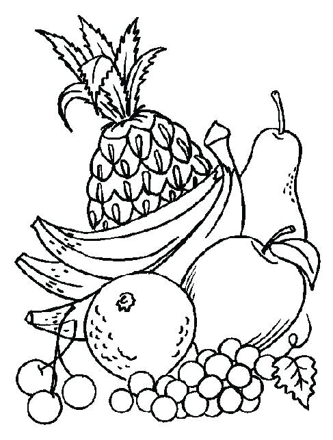 487x643 Coloring Pages Fruits