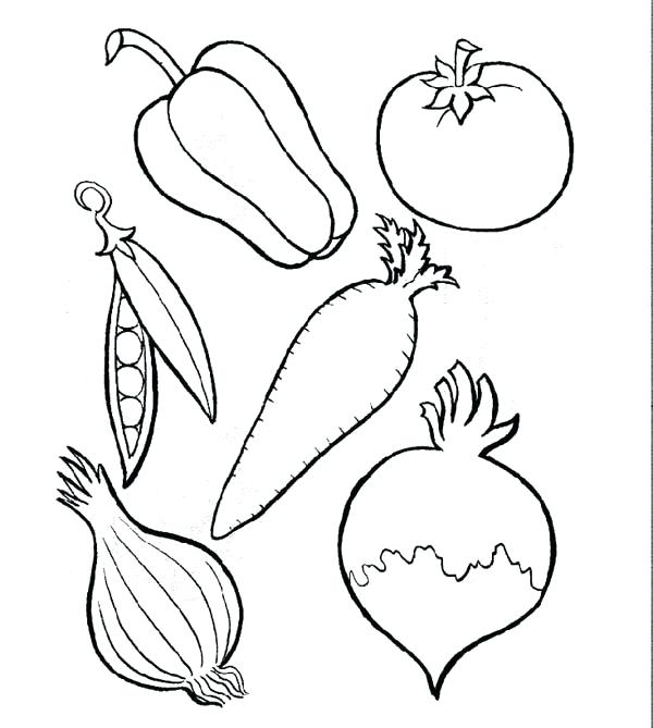 600x669 Outstanding Enchanting Fruit Drawings To Color Free Download