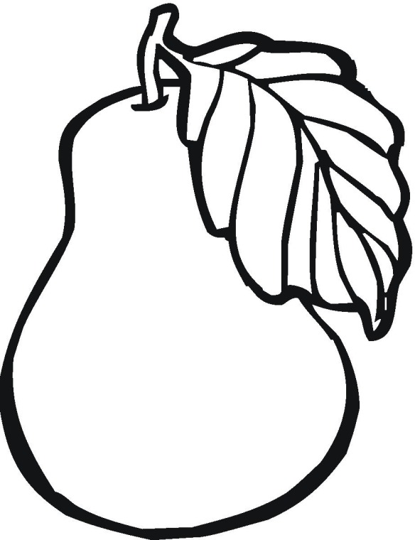 584x760 Free Fruit Coloring Pages