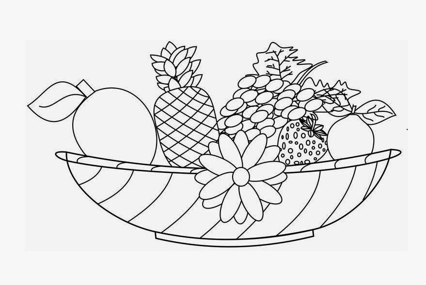 Free Coloring Pages Of A Bowl Of Fruit, Download Free Clip Art ... | 589x879