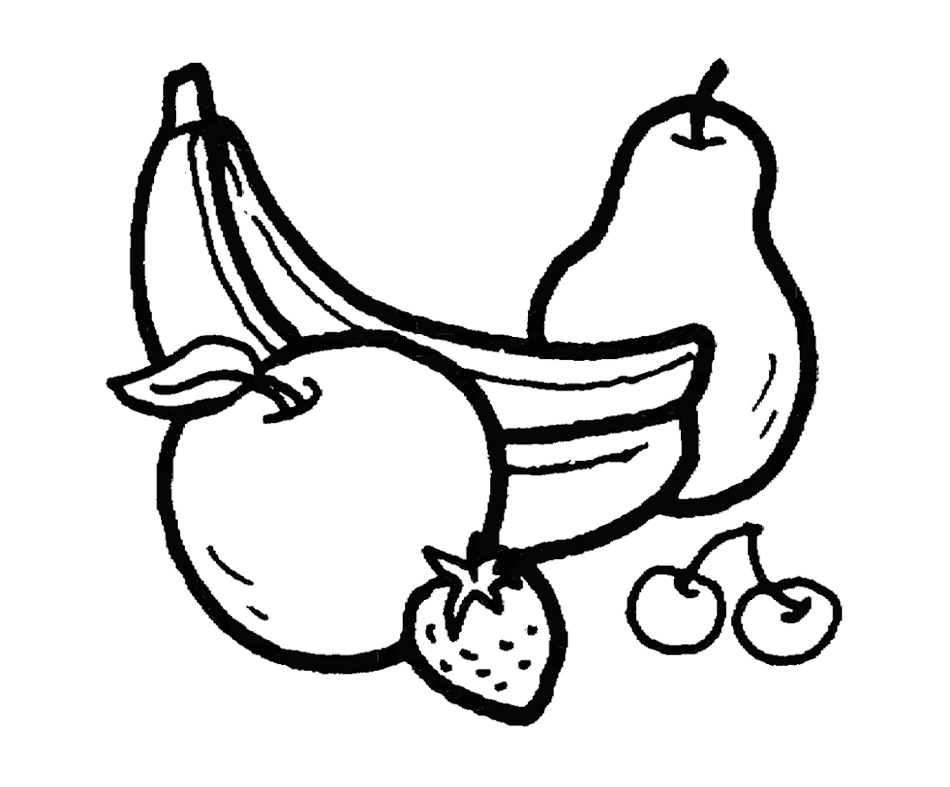 950x787 Bananas And Other Fruits Coloring Page For Kids Action Man