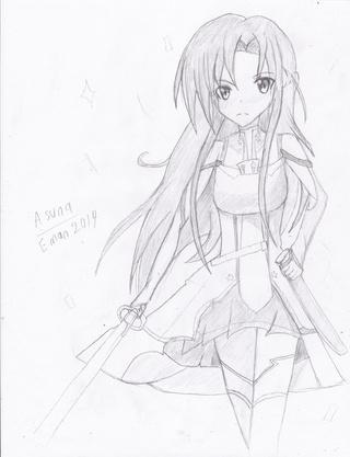320x417 asuna full body drawing challenge