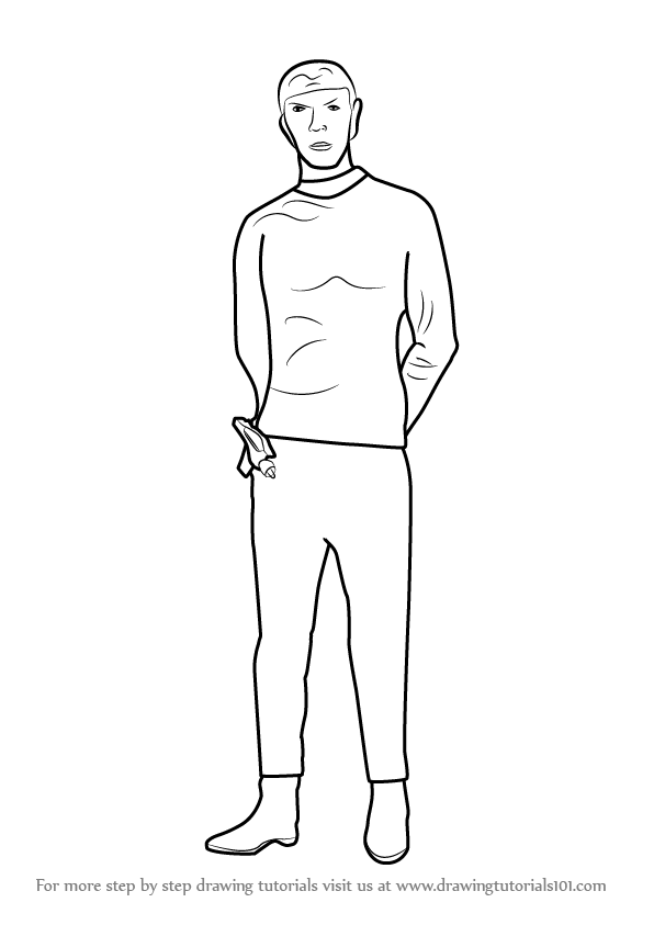 596x843 Learn How To Draw Spock Full Body From Star Trek (Star Trek) Step