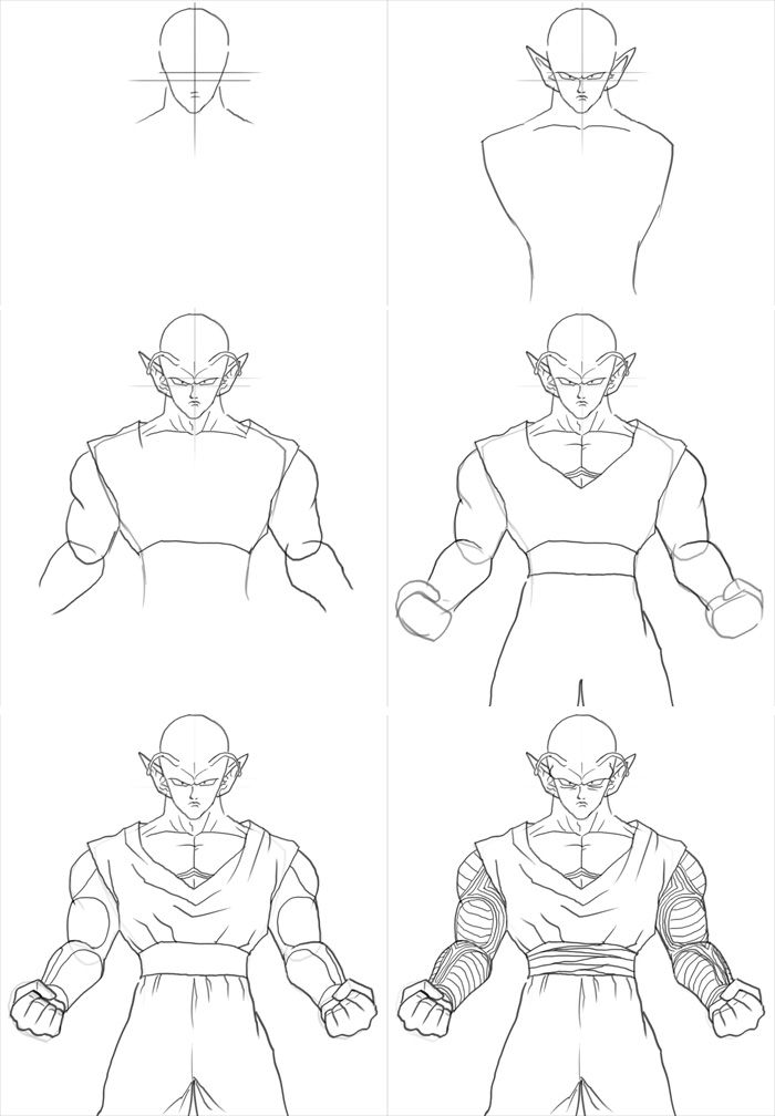 700x1008 How To Draw Piccolo Poses Piccolo, Dragons