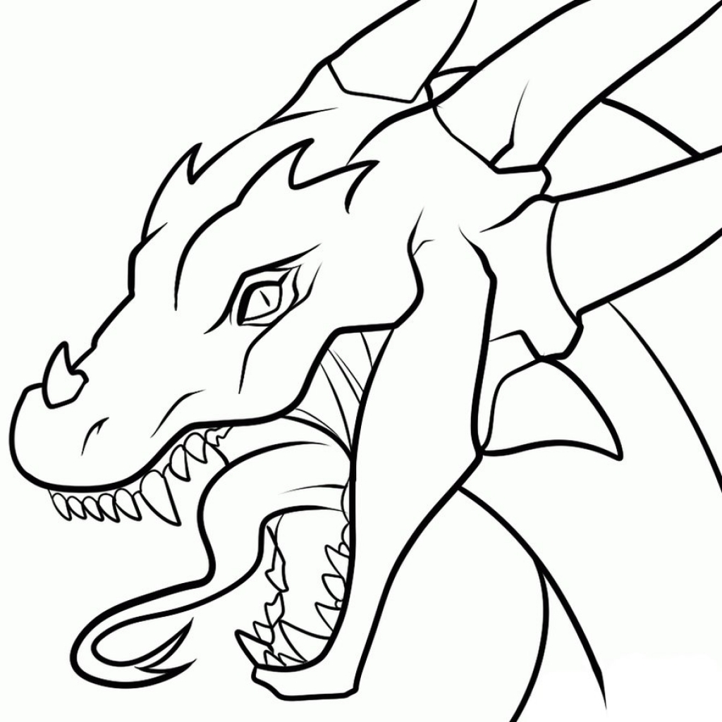 1024x1024 Simple Dragon Drawing Drawings Of Dragons Heads Clipart Best