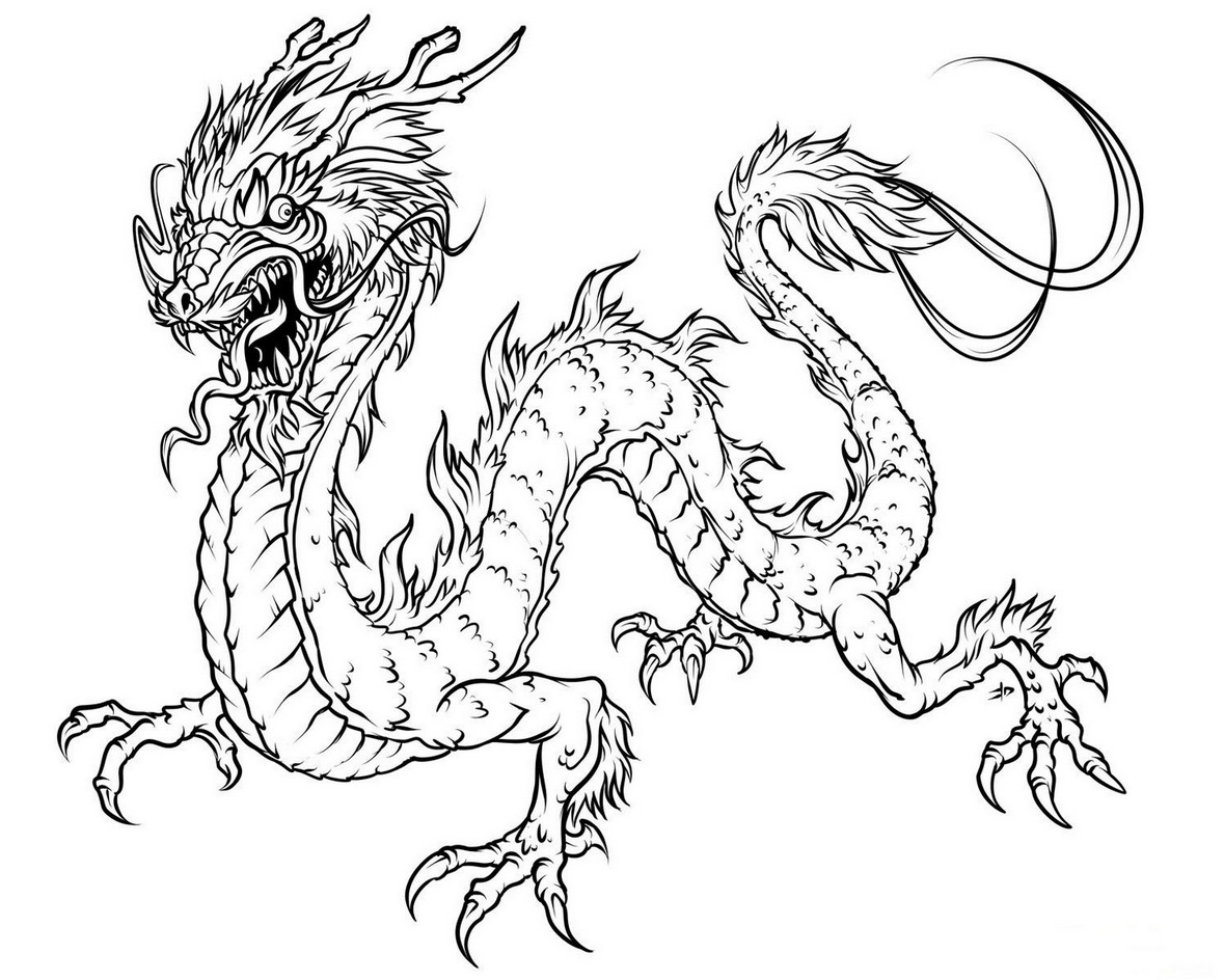 1179x944 Coloring Page Dragon Hd Drawing Board Weekly