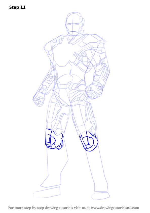 596x842 Learn How To Draw Iron Man Full Body (Iron Man) Step By Step