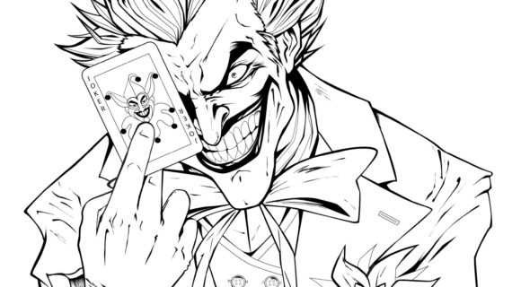 570x320 Batman Drawing Coloring Pages Joker Coloring Pages Printable My