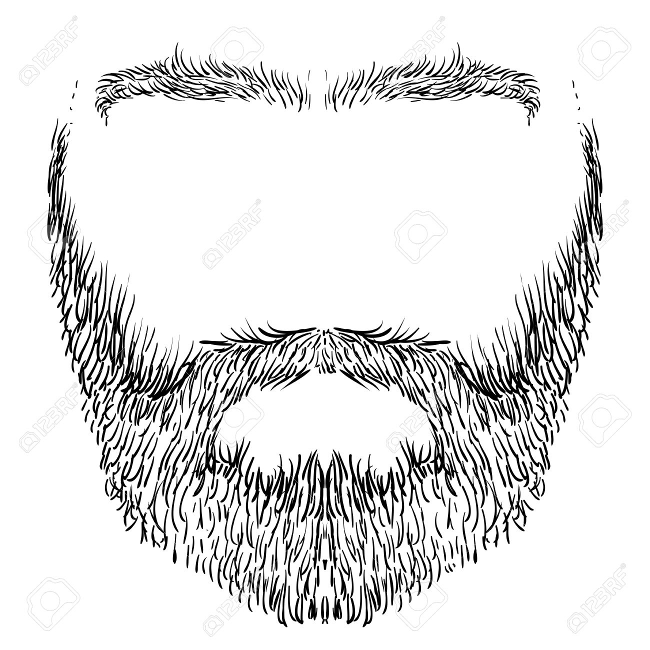 1300x1300 Form Of Beard, Mustache, Eyebrows, Freehand Drawing Royalty Free