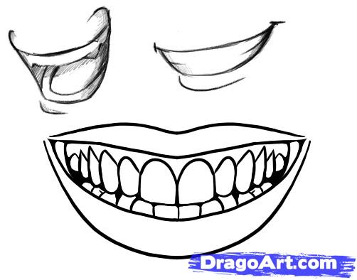 502x394 How To Draw A Smile Art Drawings, People Sketch