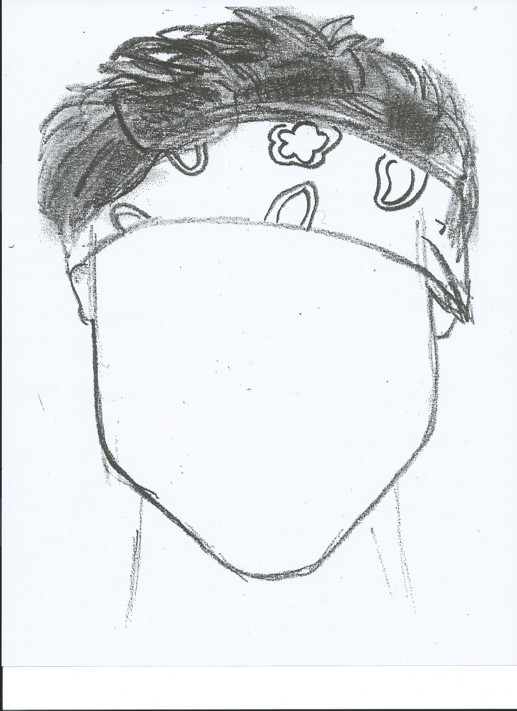 1700x2338 Sketch Of Ashton Irwin Copied Onto A Full Piece Of Cardstock