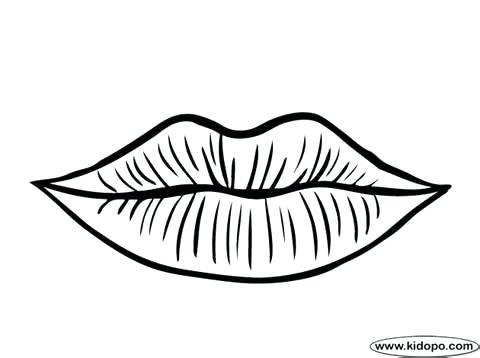 480x358 Coloring Lips Lips Coloring Page 3 Coloring Lipstick Genesisar.co
