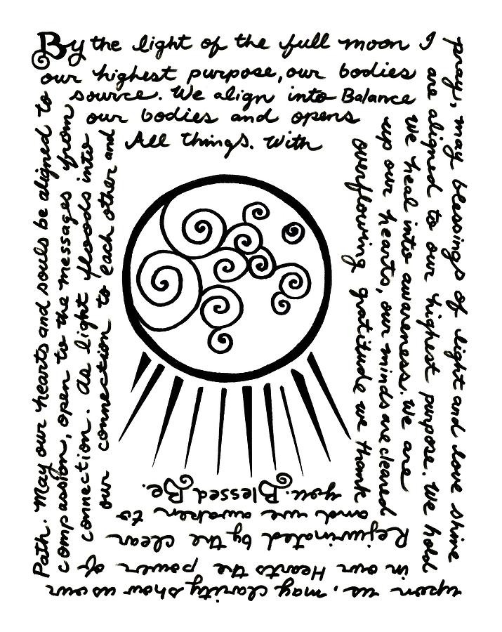 715x900 Full Moon Blessing Drawing By Katherine Nutt