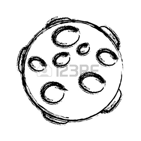 450x450 Full Moon In Outer Space With Lunar Craters On White Background