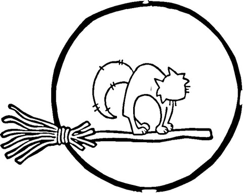 480x380 Full Moon And Cat Coloring Page Free Printable Coloring Pages