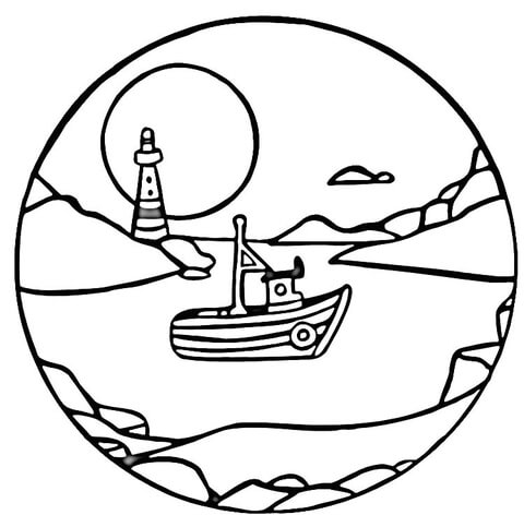 480x472 Full Moon Coloring Page Free Printable Coloring Pages