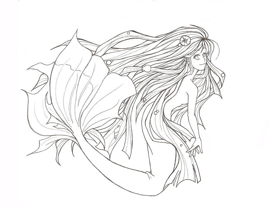 900x695 Mermaid By Kimiko Fullmoon
