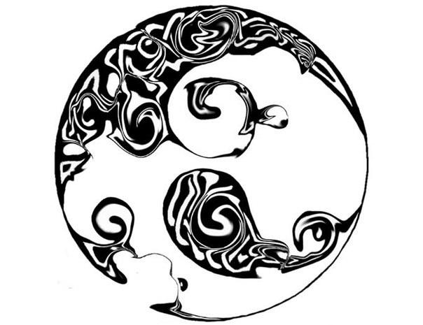604x465 Tribal Moon Drawings Cool Tribal Drawings