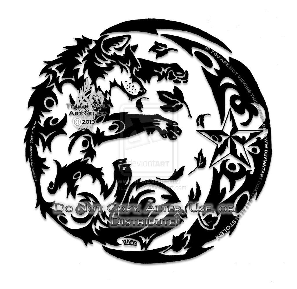 1024x998 Tribal Wolf Tribal Wolf Harvest Moon Amp Star By Fcummings