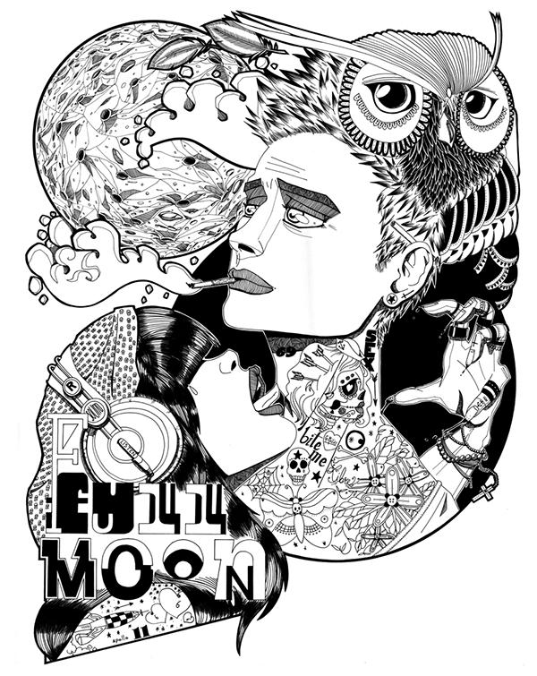 600x755 Full Moon On Behance